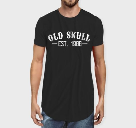 Old Skull Men 39 S Longline T Shirt Crunkthread T Shirt Store